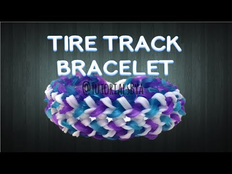 NEW Tire Track Rainbow Loom Bracelet Tutorial-ORIGINAL DESIGN