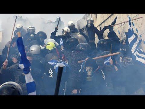 Griechenland: Ausschreitungen bei Demo in Athen gegen Namensänderung für Mazedonien