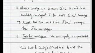 Mod-04 Lec-01 Introduction To Complex Power Series