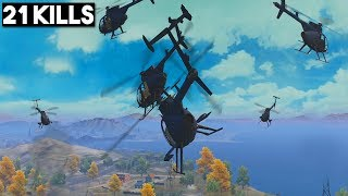 Video HOW TO FLY HELICOPTERS! | 21 KILLS SOLO vs SQUAD | PUBG Mobile MP3, 3GP, MP4, WEBM, AVI, FLV Agustus 2019