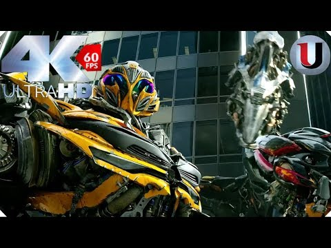Transformers Age Of Extinction Final Battle Part 1 Movie Clip (FULL HD)