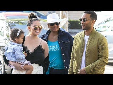 John Legend And Chrissy Teigen Out With Darling Daughter Luna