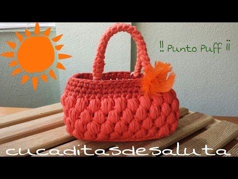 Bolso de Trapillo !! Punto Puff ¡¡ Handbag / of / Trapillo step by step