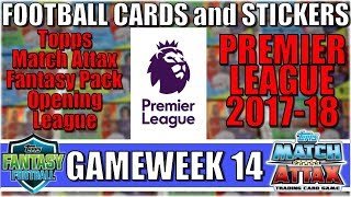MATCHDAY 14   FOOTBALL CARDS and STICKERS PREMIER LEAGUE 2017/18   Topps Match Attax Cards