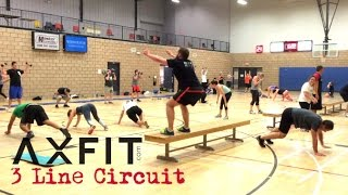 3 Line Circuit Workout - Group Training Ideas