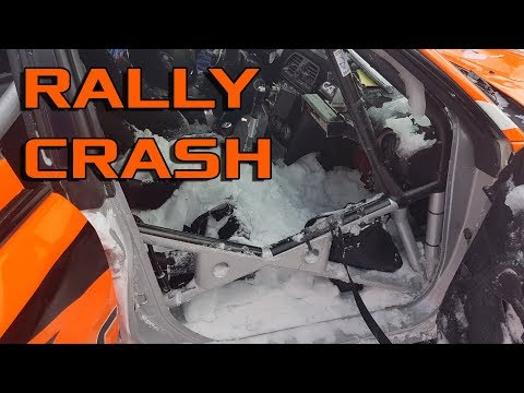 Rally driver rolls car, inside fills with snow, presses on and finishes the stage. This is rally!