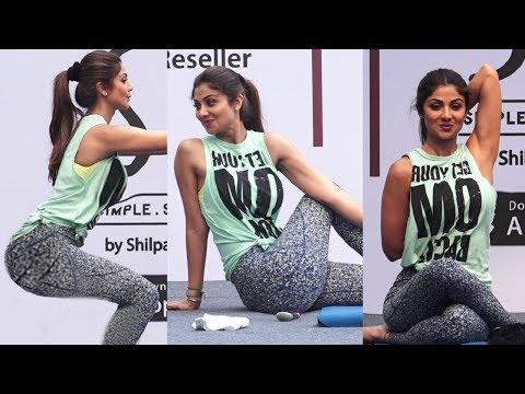 Shilpa Shetty H0T Yogasan Video For Belly Fat Loss