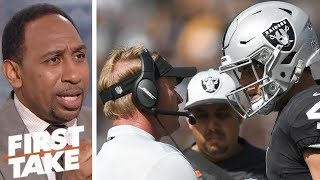 Stephen A. blames the Oakland Raiders' rough start on Jon Gruden, not Derek Carr | First Take