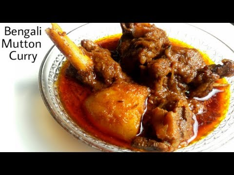 Authentic Bengali Mutton Curry | Kochi Pathar Jhol Recipe With English Subtitles