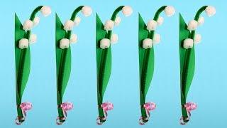 Instructions téléchargeables à http://animassiettes.com/v/brindemuguet Faites un brin ou tout un bouquet de muguets qui ne se faneront pas. C'est un beau projet pour le 1er mai ou pour la fête des mères!Musique: Easy Day par Kevin MacLeod (YouTube Audio Library)