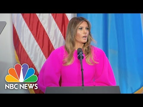First Lady Melania Trump At U.N. Luncheon: Children Must Be Taught By Example  NBC News