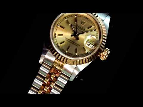Lady's 18k Yellow Gold/Stainless Steel Rolex Datejust Automatic Wristwatch