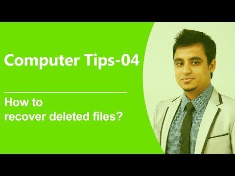 Computer Tips-04: How To Recover Deleted Files? (Bangla)