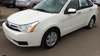 Wetaskiwin (AB) Canada  city photos gallery : Pre Owned White 2010 Ford Focus 4dr Sdn S Auto - Wetaskiwin, Alberta, Canada