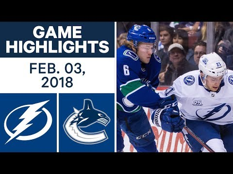 Video: NHL Game Highlights | Lightning vs. Canucks - Feb. 03, 2018
