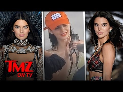 Kendall Jenner Poses with Frog for Beach Photo Shoot | TMZ TV