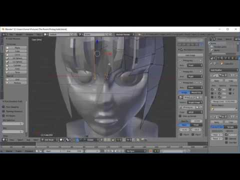 Time-Lapse Modelling - 3D Anime Character Hair