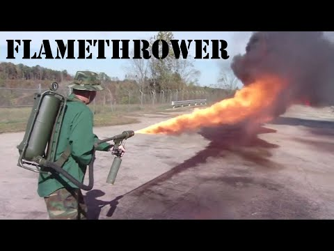 Flame Thrower Demonstration | WWII & Vietnam models