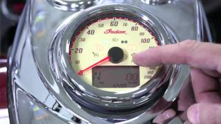 10. Using the Indian Chief Classic and Chief Vintage Instrument Cluster - Indian Motorcycle