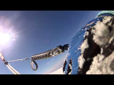 ride a little SNOWKITE attac Cherni vruh Vitosha mountai (видео)