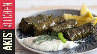 Greek Dolmades - Stuffed Vine Leaves   Akis Kitchen by Akis Kitchen