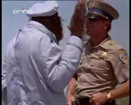 How do u make a fight between cops and an orangutan funnier?