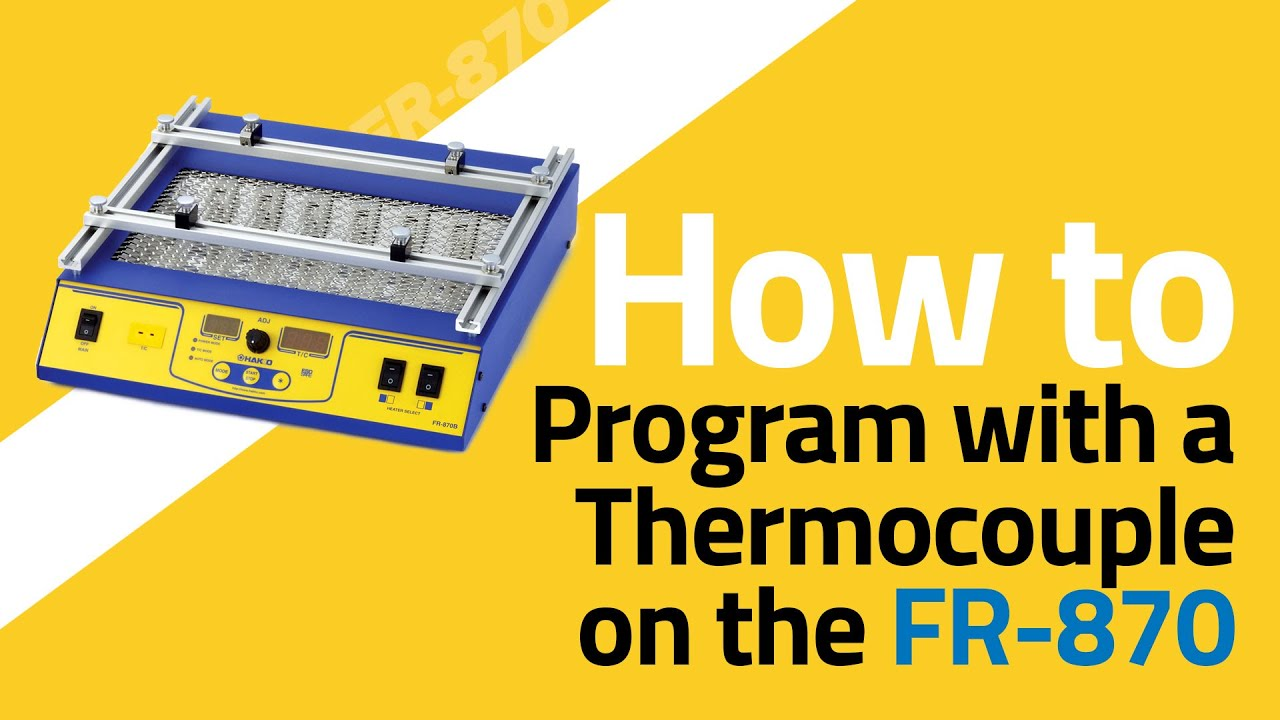 FR-870 How To Program with Thermocouple - Auto Profile