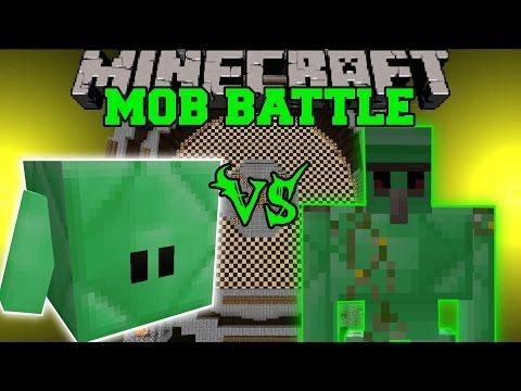 EMERALD BLOCKLING VS EMERALD GOLEM - Minecraft Mob Battles - Mods