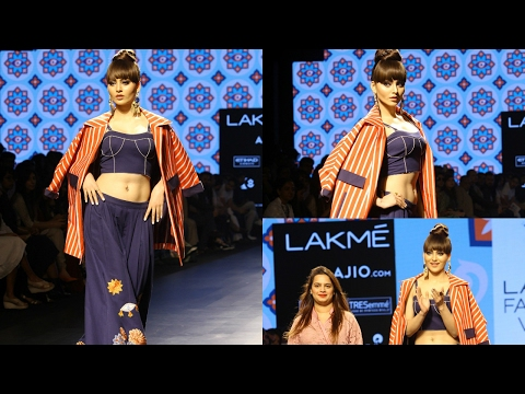 Urvashi Rautela Walks As Showstopper For Designer Sonal Verma At Lakme Fashion Week Summer 2017