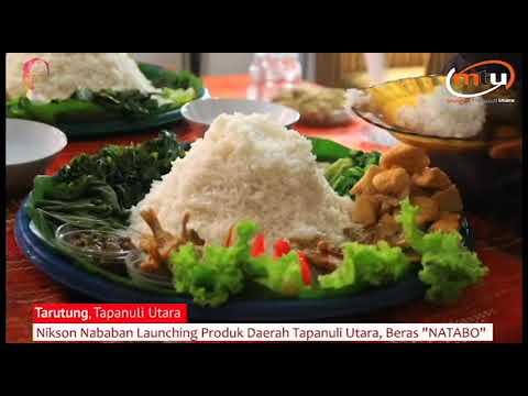 Nikson Nababan Launching Produk Tapanuli Utara Beras NATABO