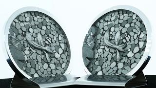 Deep 3D Engraving Aluminum – Koi Pond