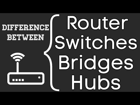 Difference Between Router, Switches, Hubs, Bridges