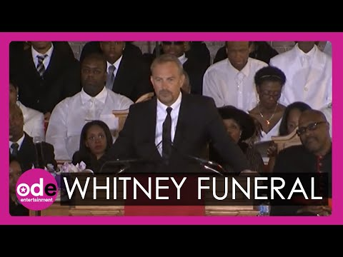 costner - Kevin Costner, who starred with Whitney Houston in The Bodyguard, pays tribute to the pop icon at her funeral in New Jersey. Report by Katie Lamborn. Subscri...