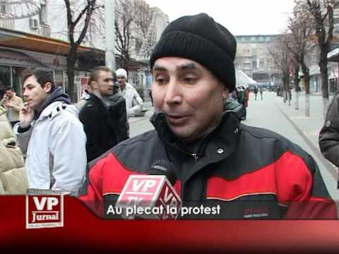 Au plecat la protest