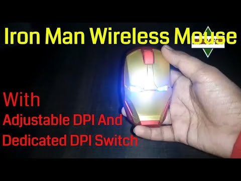 Iron Man Wireless Mouse With Adjustable DPI and dedicated DPI switch | Review | Unboxing