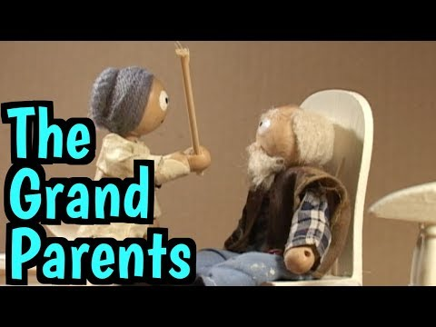 grandparents - stop motion old people.