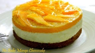 No Bake Mango Cheesecake - YouTube