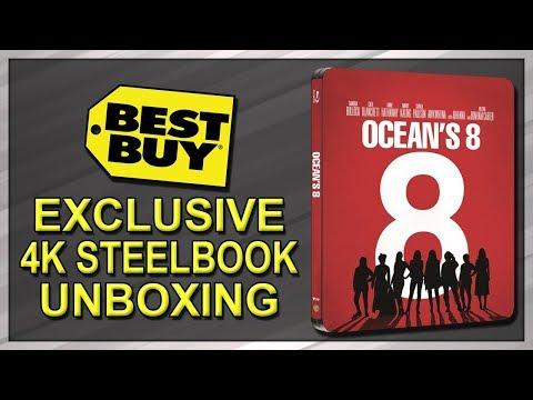 Ocean's 8 Best Buy Exclusive 4K+2D Blu-ray SteelBook Unboxing