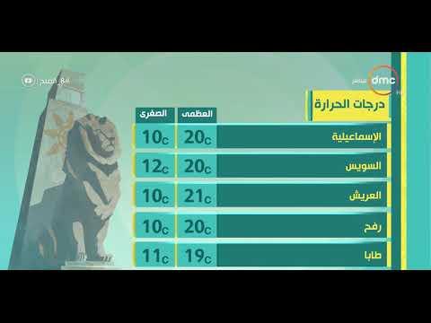 """""""8 الصبح""""- تعرف على درجات الحرارة بمصر ليوم الجمعة 21 ديسمبر"""