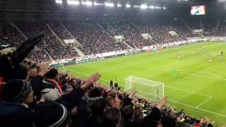 On 13.11.2016 during Hungary [4-0] Andorra FIFA WC qualification match in Groupama Arena, Budapest, hungarian fans, ultras singing
