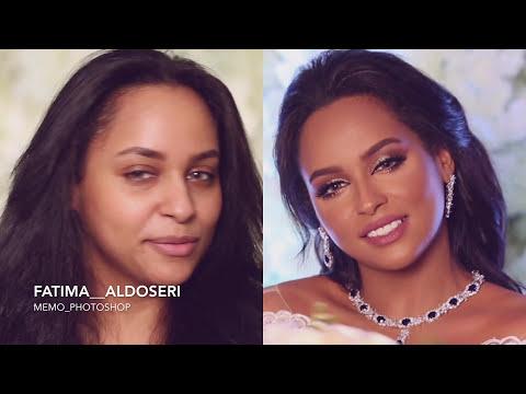 how to do a bridal makeup عروس للبشرة السمرة بألوان هادئة مع خبيرة التجميل فاطمة الدوسري (видео)