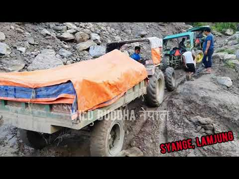 Off-road Tractor Driving in one of the toughest road of Nepal || Besisahar Manang Sadak
