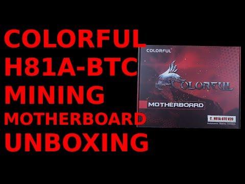 Unboxing: Colorful H81A-BTC V20 Mining Motherboard LGA1150 ASRock Pro BTC Alternative
