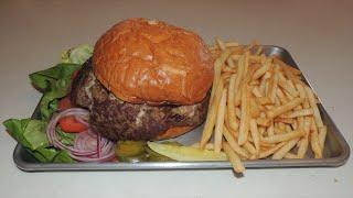 STUFFED Burger Challenge w/ Cheese, Bacon, & Mushrooms!!