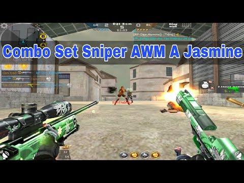 CF Legends : Combo Set Sniper AWM A Jasmine Gặp TMP Tàu - Thời lượng: 10 phút.