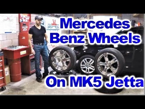 How to Install Mercedes Benz Wheels and Tires Package on MK5 VW Jetta