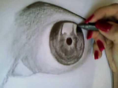 Auge realistisch zeichnen / realistic drawing / eye