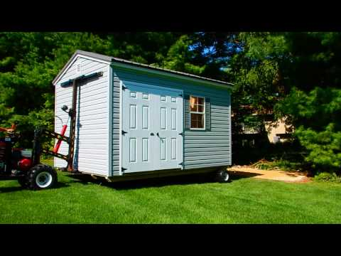 How they deliver a prebuilt shed and what to expect