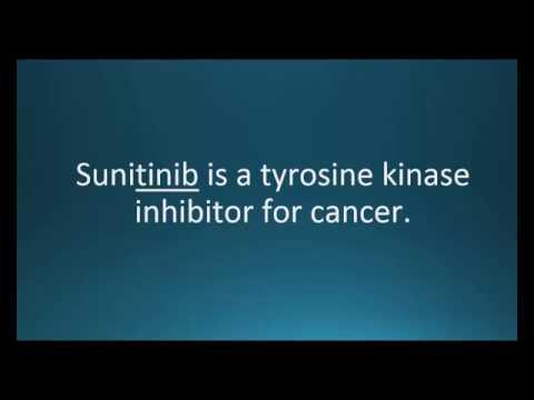 How to pronounce sunitinib (Sutent) (Memorizing Pharmacology Video Flashcard)
