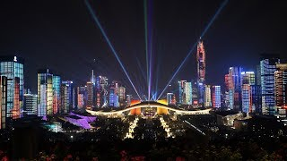 ShenZhen city light show - the world's best